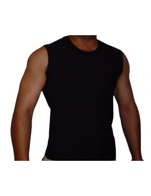 Underworks Cotton Concealer Compression Gynecomastia Muscle Shirt