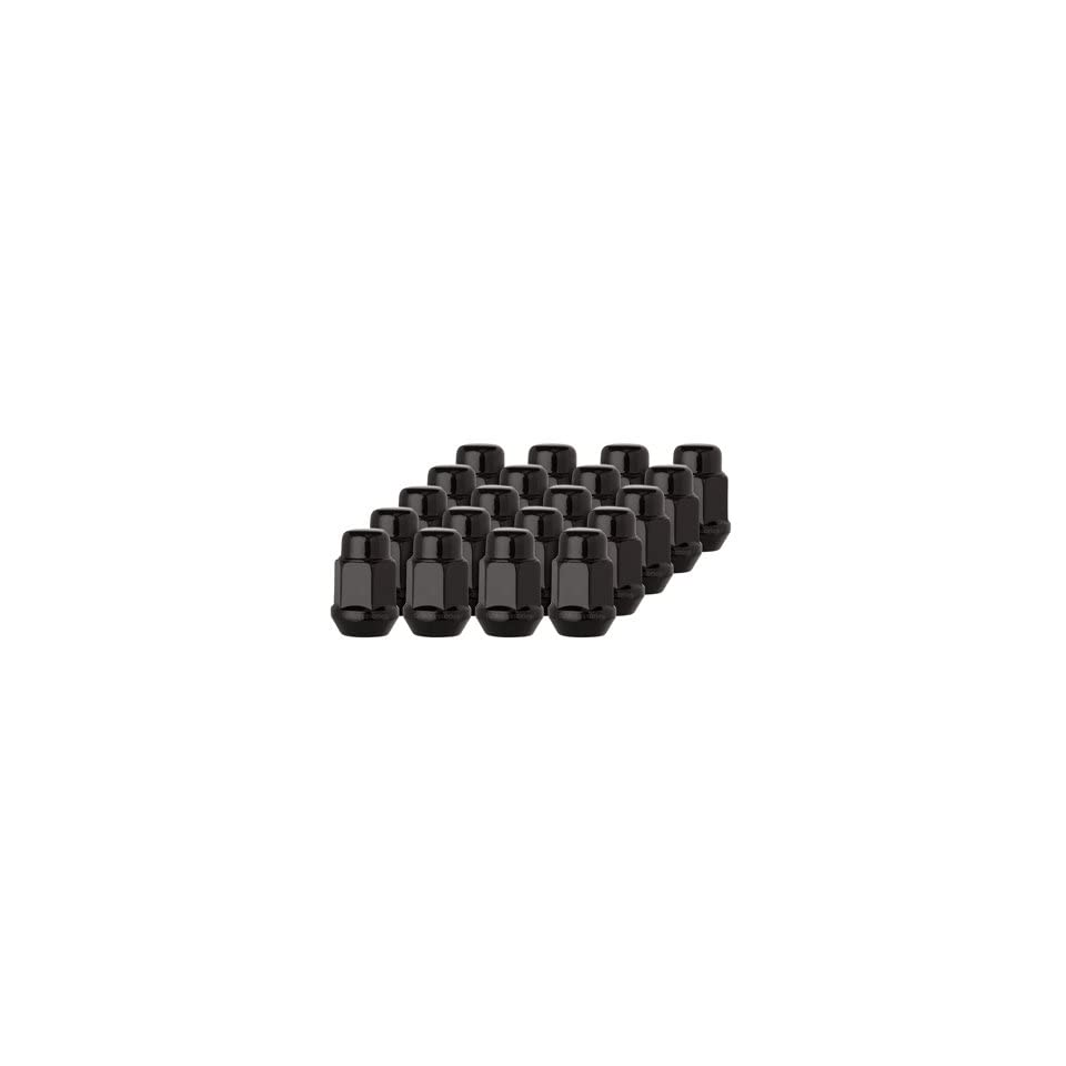 DPAccessories D3146P 2308/20 20 Black 12x1.5 Closed End Bulge Acorn Lug Nuts   Cone Seat   19mm Hex Wheel Lug Nut