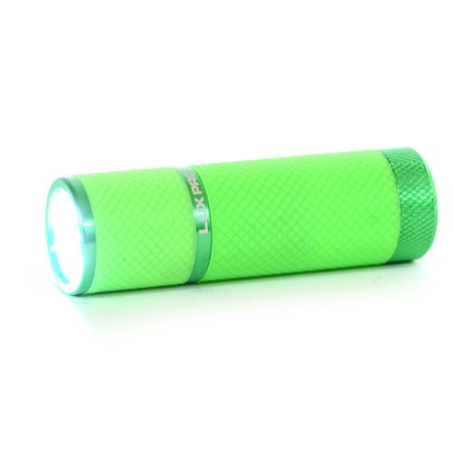 Lux-Pro Lp395 Gels Glow-In-The-Dark 9 Led Flashlight - Light Green