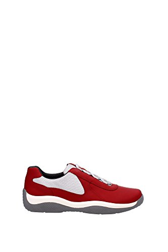Sneakers Prada Uomo Pelle Rosso e Grigio 4E2905ROSSO Rosso 44.5EU