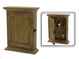 armoire boite a cle en bois vieillie facon authentique. Black Bedroom Furniture Sets. Home Design Ideas