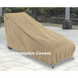 Amazon.com: Champion Patio Chaise Lounge Cover Taupe: Patio, Lawn ...
