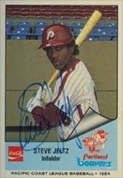 Steve Jeltz Portland Beavers - Phillies Affiliate 1984 Cramer Cards Autographed Hand... by Hall of Fame Memorabilia