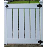 Genova Building Products FGV111 4' White Semi-Privacy PVC Gate