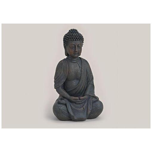 Buddha-Figur-sitzend-betend-25cm-in-Braun-Deko-Artikel-fr-Wohnung-Haus-Buddha-Skulptur-Wohnaccessoire-ideal-als-Geschenk-Buddha-Statue-Feng-Shui-Dekoration