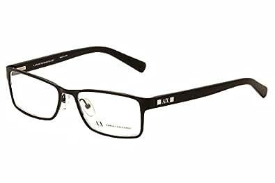 Amazon.com: Armani Exchange AX1003 Eyeglasses-6014 Satin Black-52mm