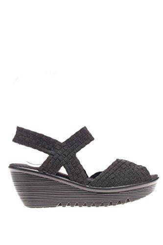 FAME.Sandalo fondo zeppa.Black.40