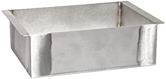 "Talboys 949135 Stainless Steel Sand Bath, 5.8"" Length x 7.5"" Width x 2.5"" Height, For 4 Block Dry Block Heater"