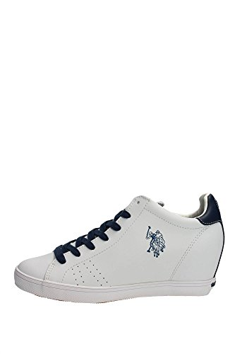 U.s. Polo Assn CUREL4142S5/L1 Sneakers Donna Pelle Bianco Bianco 37