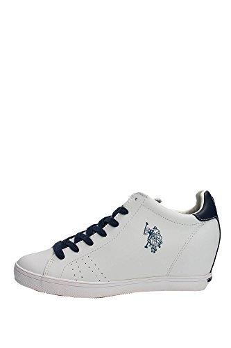 U.s. Polo Assn CUREL4142S5/L1 Sneakers Donna Pelle Bianco Bianco 37