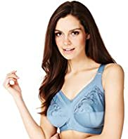 Total Support Non-Wired Embroidered B-G Bra - Additional Colours