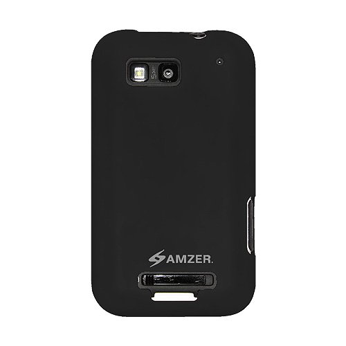 Amzer AMZ89382 Silicone Skin Jelly Case For Motorola DEFY MB525 (Black)