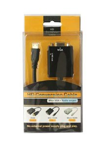 Aeoss HDMI to VGA Converter Adapter Cable With Audio Output A001