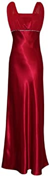 Satin Chiffon Prom Dress Holiday Formal Gown Crystals Full