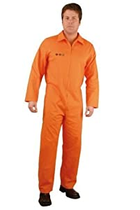PLUS SIZE Department of Corrections Prisoner Costume Jumpsuit (See Size Notes)