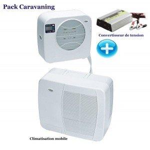 pack climatiseur mobile mistralvan 2240 convertisseur 12 220 volts 1000 w jardin. Black Bedroom Furniture Sets. Home Design Ideas