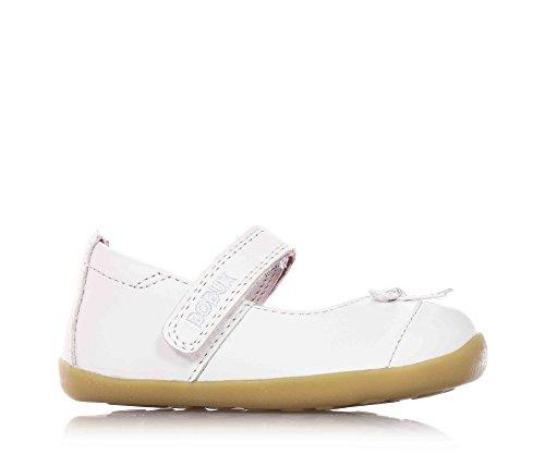 BOBUX - Ballerina bianca, scarpa, in pelle traspirante, flessibile, chiusura a strappo, materiali non tossici, Bambina-21
