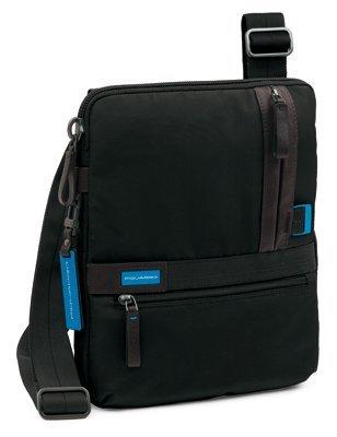 PIQUADRO Nimble Borsello porta iPad®/netbook con doppia tasca frontale chiusa da zip nero CA1816NI/N