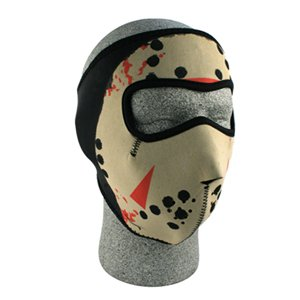 Neoprene Thermal Face Mask- Jason Mask Glow in the Dark glow in the dark halloween jason full face mask green