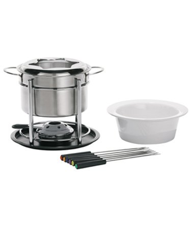 Trudeau Sorento 3-in-1 Fondu Set, 60 oz, Stainless Steel