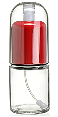 CHEFVANTAGE Olive Oil Mister and Cooking Sprayer with Glass Bottle and Clog-Free Filter – Red
