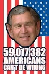 Posters: George Bush - USA Flag - 91x61cm: Prints: Posters & Prints