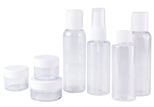 set-of-7-clear-plastic-travel-size-empty-bottles-tsa-airline-approved