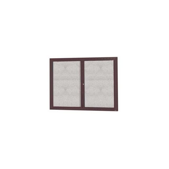 Bronze Indoor/Outdoor Enclosed Aluminum Bulletin Board