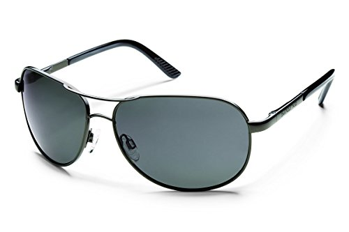 SUNCLOUD Aviator Polarized Sunglasses, Gunmetal