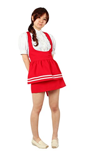 Milica Books Anna Miller's waitress uniform red Cosplay Costume Size M