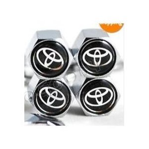 Toyota anti-theft Tire Stem Valve Caps (Tire Caps Valve Toyota compare prices)