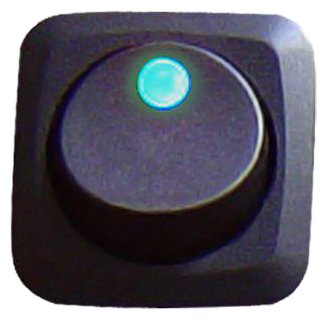 Переключатель автомобильный Keep It Clean SW16B Blue 25 Amp/12V Square Framed LED Rocker Switch