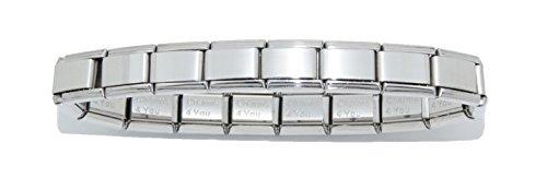 Charms 4 You - Braccialetto luccicante, con 18 maglie da 9 mm, si adatta a charm in stile italiano quali ad esempio Zoppini, Talexia, Boxing e Nomination