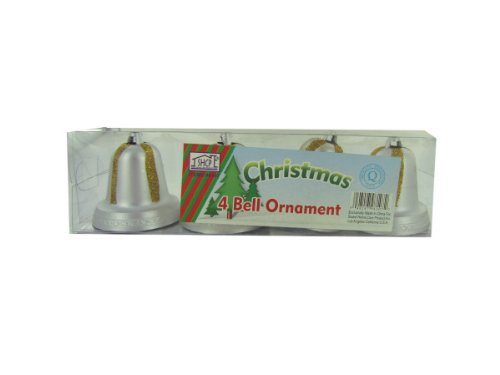 4 silver-gold bells - Pack of 24