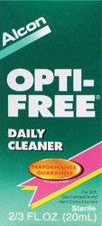 Opti-Free Daily Cleaner for Contact Lenses, 2 Count