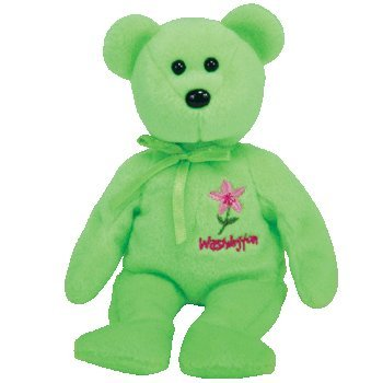 TY Beanie Baby - WASHINGTON RHODODENDRON the Bear (Show Exclusive)