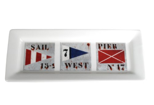 Chehoma Ateliers D'Ambiances Semaphore Maritime Signal Flag Serving Dish