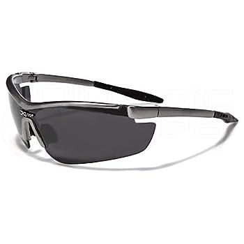 X-Loop Lunettes de Soleil - Sport - Cyclisme - Ski - Conduite - Moto - Volley / Mod. 3550 Gris Foncé / Taille Unique Adulte / Protection 100% UV400