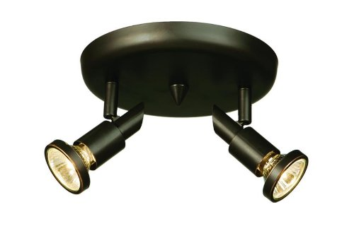Artcraft Lighting AC5832OB Shuttle 2-Lite Round Canopy Track Light, Oil-Rubbed Bronze