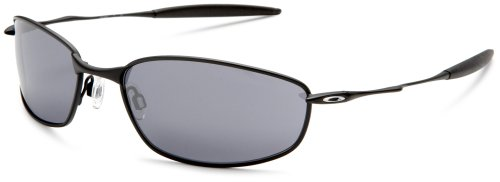 Oakley Men's Whisker Iridium Sunglasses,Black Frame/Black Ir