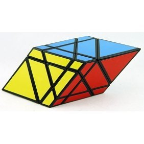 Diansheng Moren Rhomboid Shape Mode Cube Puzzle Black - 1