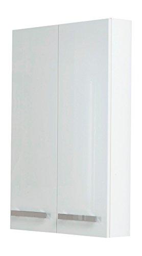Kesper Badmöbel 6110010604201000 Hängeschrank Sydney, 2 Türen, 95 x 60 x 15 cm, weiß