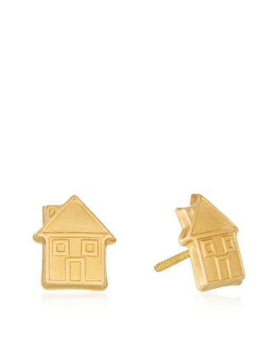 GOLD & DIAMONDS Pendientes Casita oro amarillo 18 ct