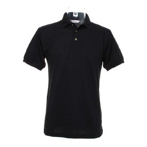 Kustom Kit Workwear Mens Short Sleeve Polo Shirt (3XL) (Black)
