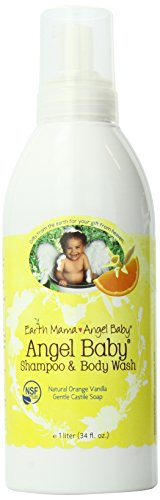 Earth Mama Angel Baby Organic Angel Baby Shampoo and Body Wash, Refill Size, Orange-Vanilla, 34 Ounce Bottle - 1