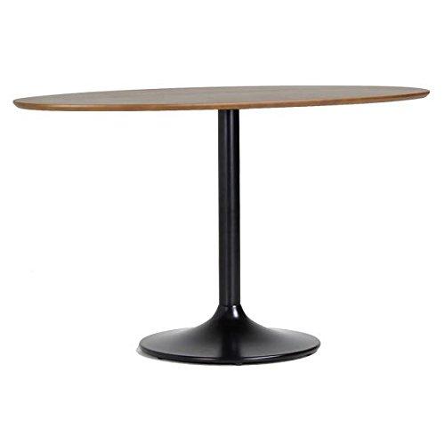 arne カフェテーブル 丸型 楕円形 突板 木製 ダイニングテーブル 食卓机 2人 UT-1200D ウォールナット