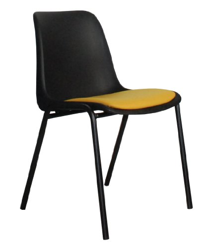 Stuhl Back to GYM, schwarz/gelb