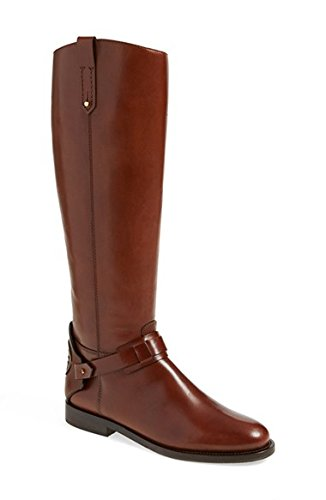 Tory Burch Derby Leather Riding Boots Size 8.5