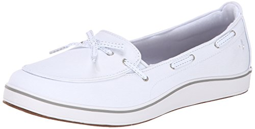 Grasshoppers Women's Windham Slip-On Loafer, White, 8 M US