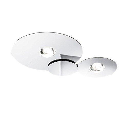 Studio Italia Design Bugia Double LED 2x18W Lampada da Soffitto Bianca 3000K 3200lm